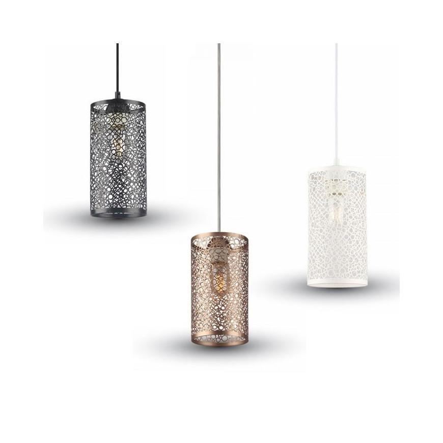 V tac lampadario a sospensione cilindro in metallo for Lampade a led e 27
