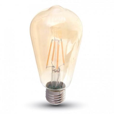 V-Tac VT-1968 Lampadina LED E27 8W Bulbo ST64 Filamento