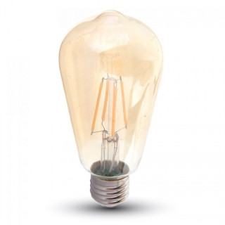 V-Tac VT-1966 Lampadina LED E27 6W Bulbo ST64 Filamento