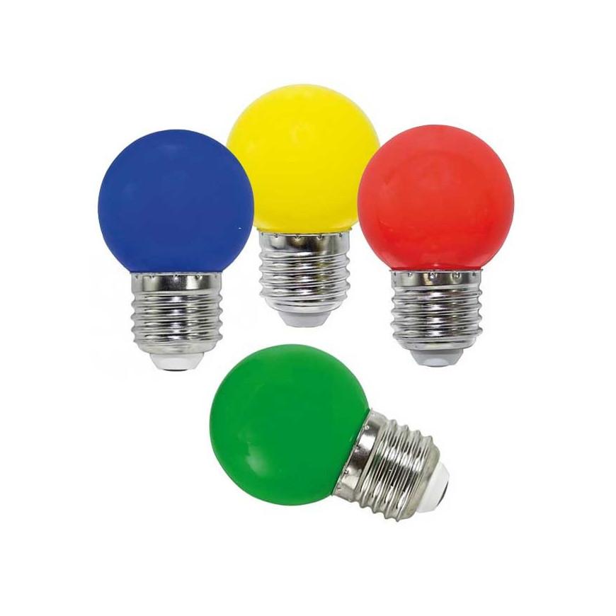 Life Lampadina LED E27 2W Miniglobo G45 Colorata