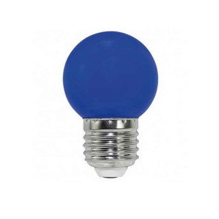 Life Lampadina LED E27 2W Miniglobo G45 blu