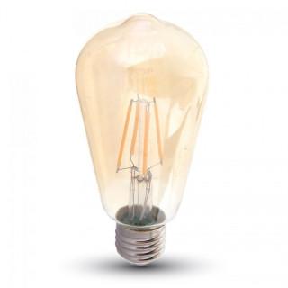 V-Tac VT-1964D Lampadina LED E27 4W Bulbo ST64 Filamento Dimmerabile