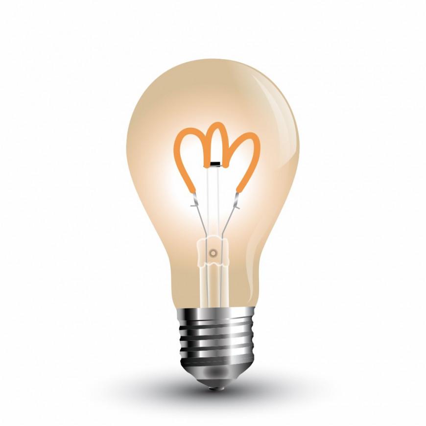 Lampadina LED E27 3W Bulbo ST64 Filamento Ambrata Vintage