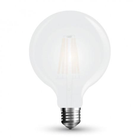 Lampadina LED E27 7W Globo G125 Frost Filamento 300°