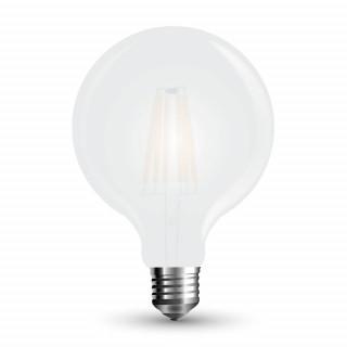 Lampadina LED E27 7W Globo G125 Frost Filamento Dimmerabile 300°