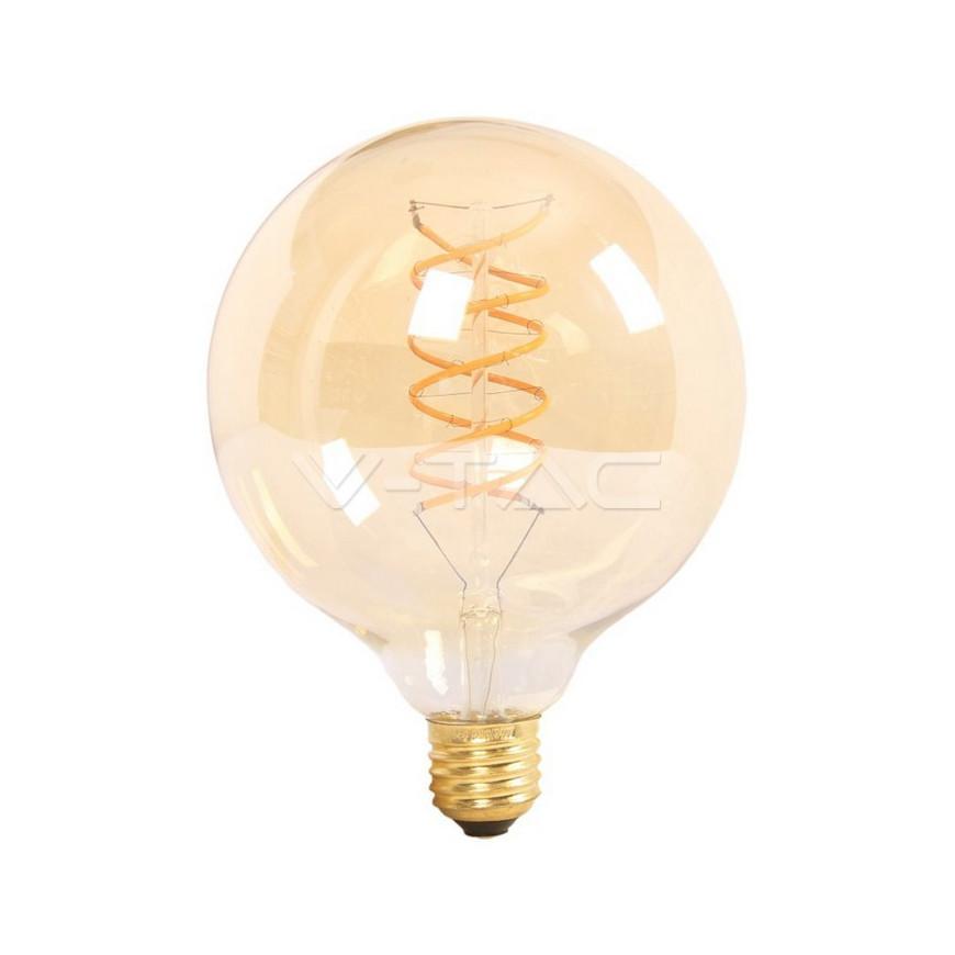 Lampadina LED E27 6W Globo G125 Filamento Ambrata Vintage Dimmerabile