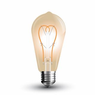Lampadina LED E27 5W Bulbo ST64 Filamento Ambrata Vintage