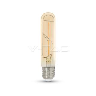 Lampadina LED E27 2W Tubolare Filamento Ambrata Vintage