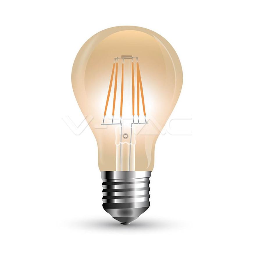 Lampadina LED E27 10W Bulbo A67 Filamento Ambrata Vintage