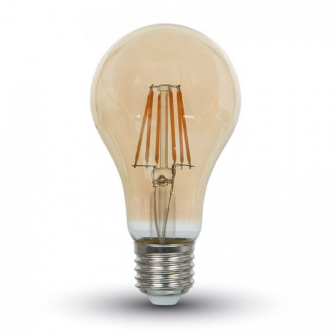 V-Tac VT-1958 Lampadina LED E27 8W Bulbo A67 Filamento Vintage