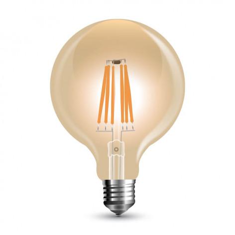 Lampadina LED E27 8W Globo G125 Filamento Ambrata Vintage Dimmerabile