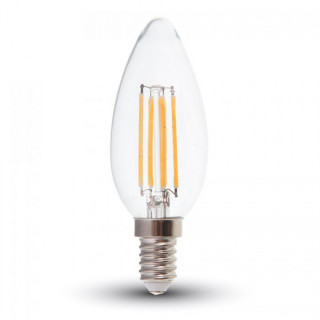 V-Tac VT-1986D Lampadina LED E14 4W Candela Filamento Dimmerabile