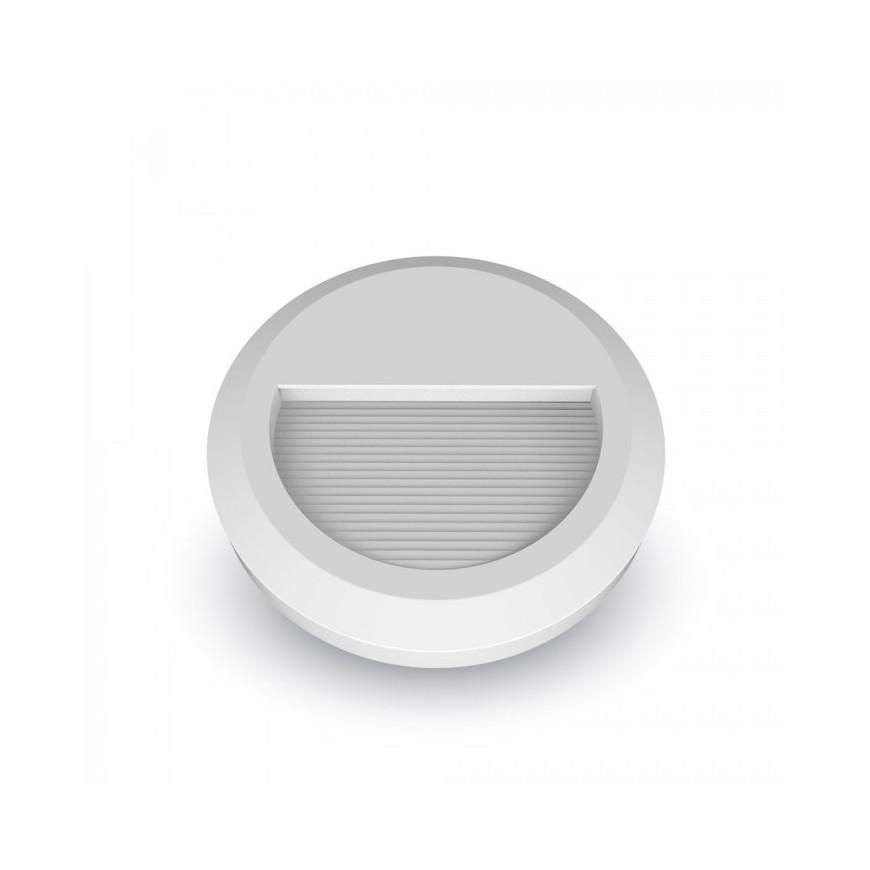 V-Tac Faretto Segnapasso LED Da 2W A Montaggio Superficiale Rotondo Per Esterno Bianco