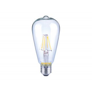 Lampadina LED E27 7W Bulbo ST64 Filamento Dimmerabile