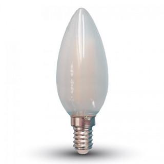 Lampadina LED E14 4W Candela Effetto Ghiaccio Filamento