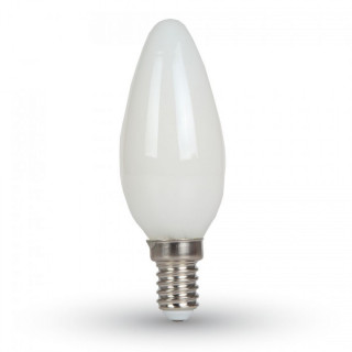 V-Tac VT-1924 Lampadina LED E14 4W Candela Filamento Vetro Bianco
