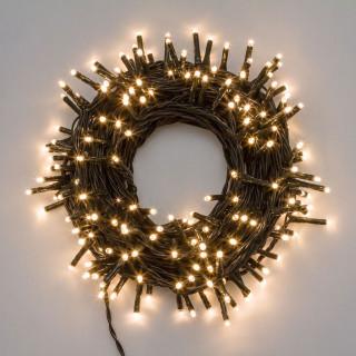 Catena 1.000 luci LED Reflex Bianco Caldo per interno/esterno con controller memory - in bobina