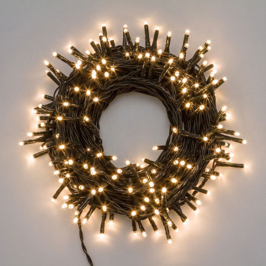 E led light catena luci led reflex bianco caldo per - Catena di luci per esterno ...