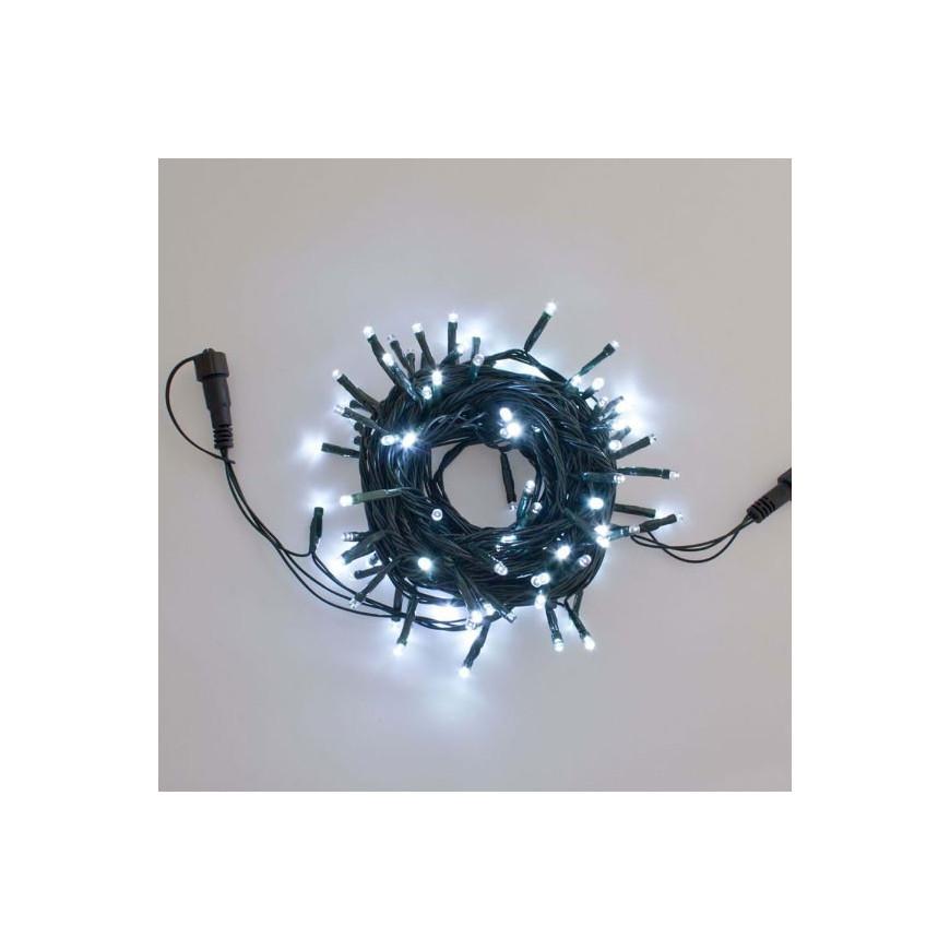 Catena PLB 100 luci LED Reflex Bianco Freddo per interno/esterno - Prolungabile