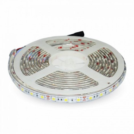 V-Tac VT-5050 Striscia LED SMD 5050 Impermeabile RGB Multicolore 60 LED/metro in bobina da 5 metri
