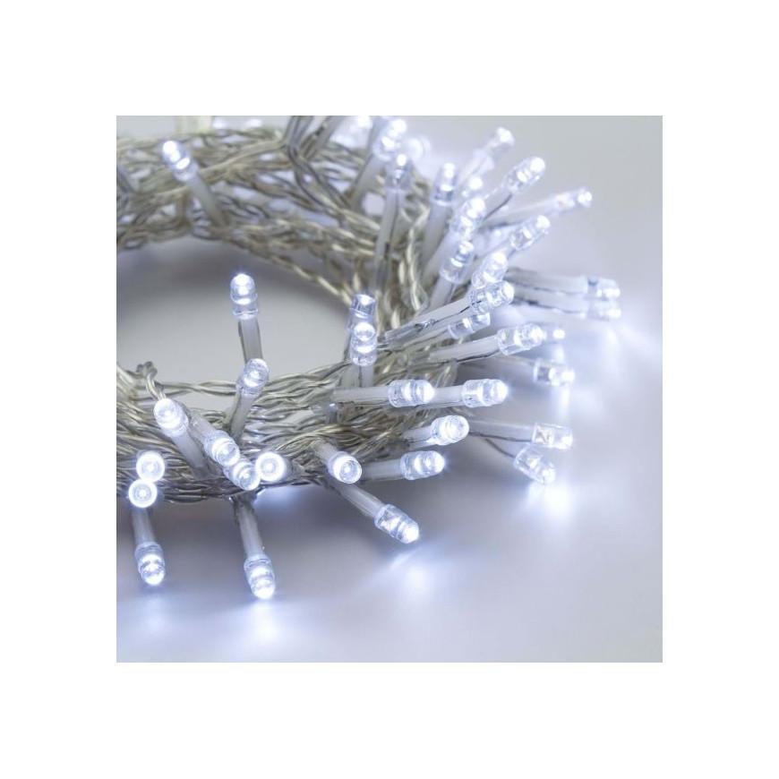Catena 96 luci LED Reflex Bianco Freddo a Batteria cavo trasparente per interno/esterno con controller memory