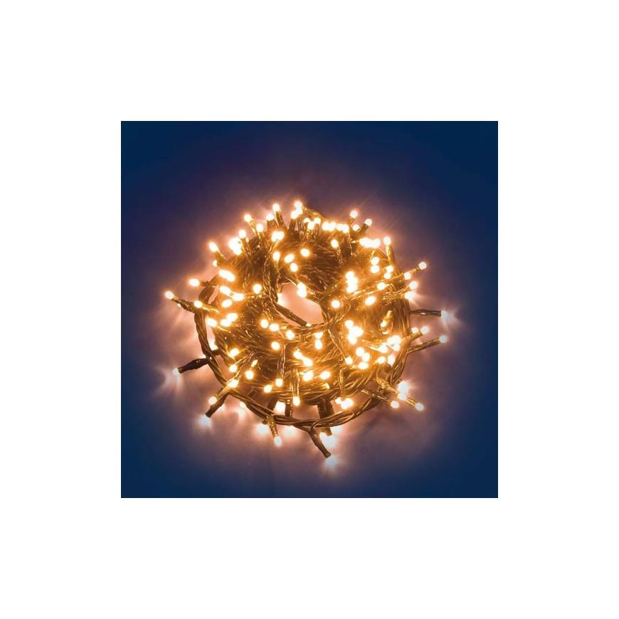 E led light catena 360 luci led reflex bianco caldo per for Luci a led esterno