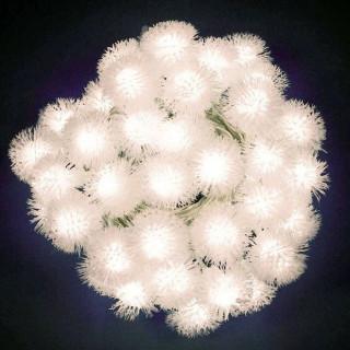 Catena 40 Sfere Snowball con LED Bianco Caldo per interno/esterno con controller memory