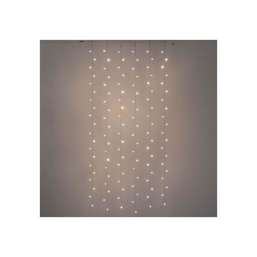 Tenda luminosa PLB 120 luci LED Reflex Bianco Caldo per interno/esterno - Prolungabile