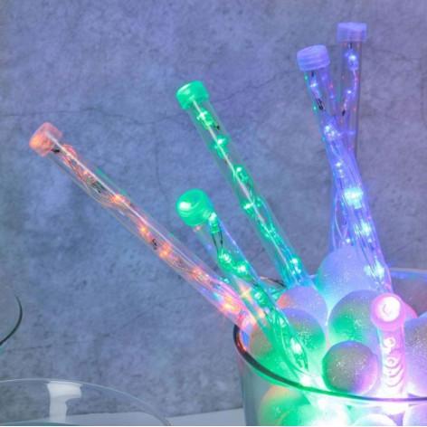 Catena 10 Tubi Luminosi Lightfall con LED Multicolore per interno/esterno - Prolungabile