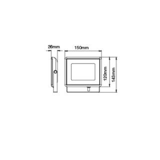 Disegno tecnico V-Tac VT-4021 Faretto LED SMD 20W Ultra Sottile da esterno Bianco I-SERIES