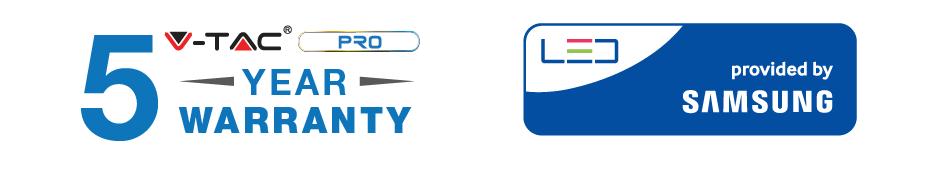 V-Tac Serie PRO con chip Samsung - 5 anni d i garanzia